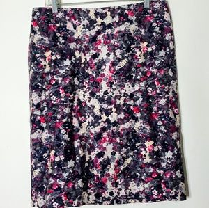 TALBOTS Straight Printed Floral Pencil Skirt